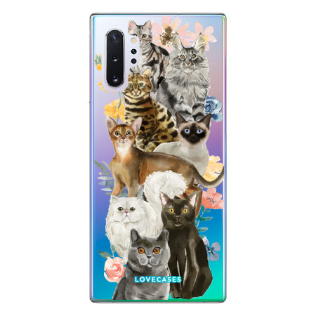 LoveCases Samsung Note 10 Plus Cats Clear Phone Case
