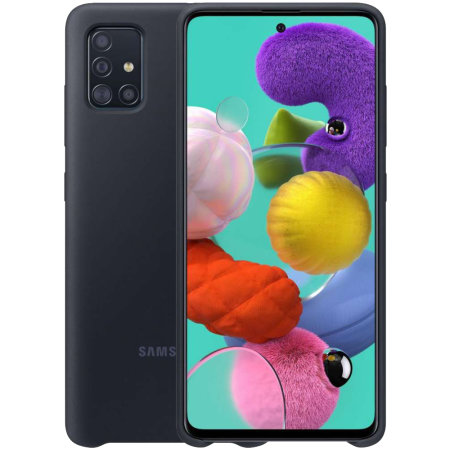 Official Samsung Galaxy A71 Silicone Cover Case - Black