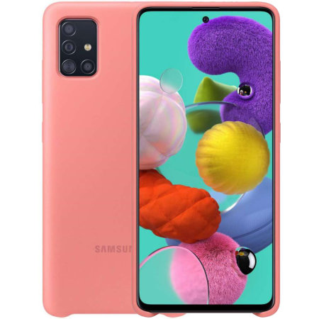 Official Samsung Galaxy A71 Silicone Cover Case - Pink