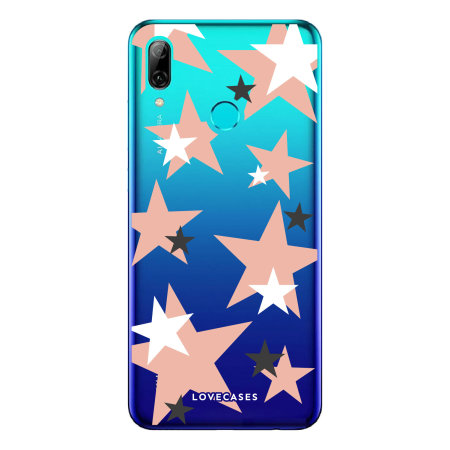 LoveCases Huawei P Smart 2019 Pink Star Clear Phone Case