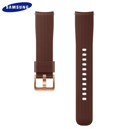 Official Samsung Galaxy Watch Active 2 20mm Silicone Strap - Brown