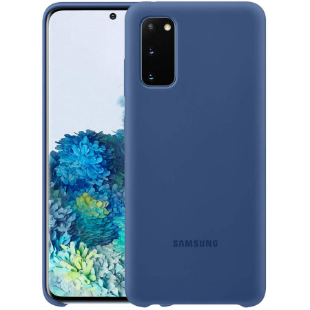 Official Samsung Galaxy S20 Silicone Cover Case - Navy