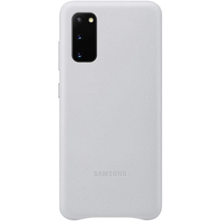 Official Samsung Galaxy S20 Leather Cover Case - Light Grey