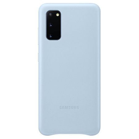 Official Samsung Galaxy S20 Leather Cover Case - Sky Blue