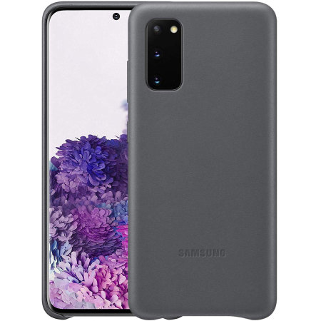 Official Samsung Galaxy S20 Leather Cover Case - Grey