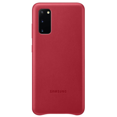 Official Samsung Galaxy S20 Leather Cover Case - Red