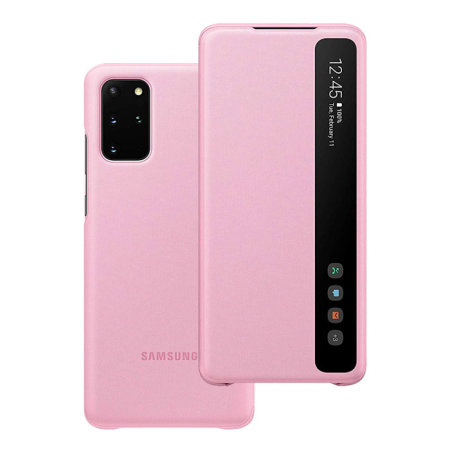 Official Samsung Galaxy S20 Plus Clear View Cover Case - Pink