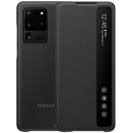 Official Samsung Galaxy S20 Ultra Clear View Cover Case - Black