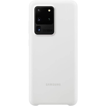 Official Samsung Galaxy S20 Ultra Silicone Cover Case - White