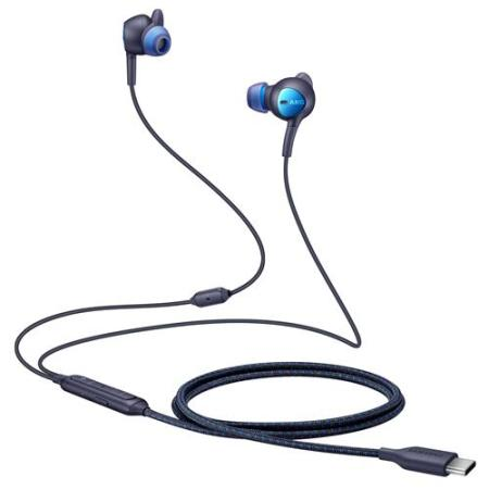 Official Samsung AKG Noise Cancelling ANC In-Ear USB-C Earphones -Blue
