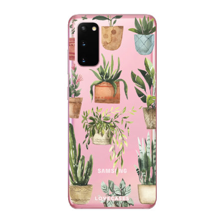 LoveCases Samsung Galaxy S20 Plants Clear Phone Case