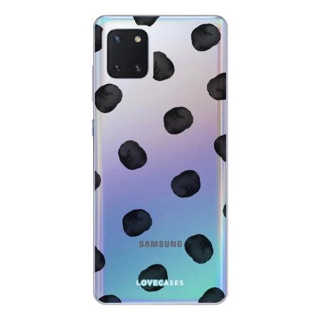 Coque Samsung Galaxy Note 10 Lite LoveCases Polka / pois – Transparent