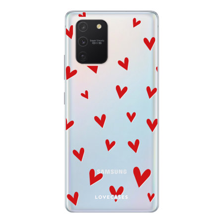 LoveCases Samsung Galaxy S10 Lite Hearts Clear Phone Case