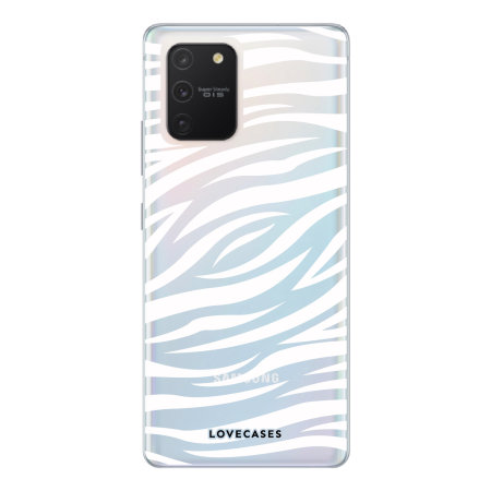 LoveCases Samsung Galaxy S10 Lite Zebra Clear Phone Case