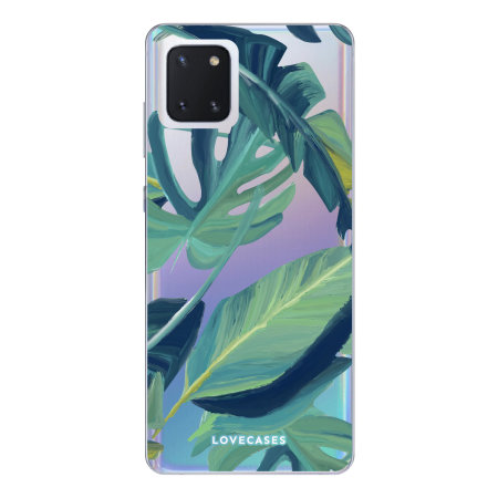 LoveCases Samsung Galaxy Note 10 Lite Tropical Clear Phone Case