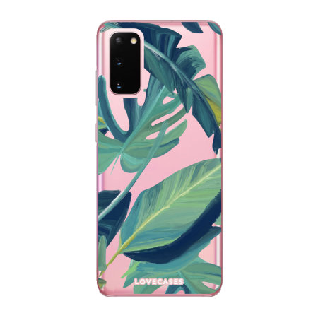 LoveCases Samsung Galaxy S20 Tropical Clear Phone Case