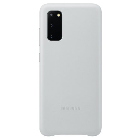 Official Samsung Galaxy S20 Leather Cover Case - White