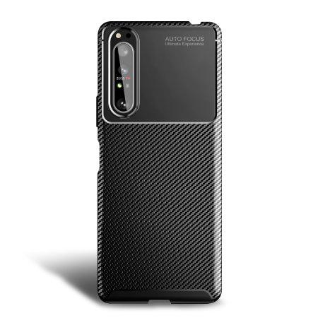 Olixar Carbon Fibre Sony Xperia 1 II Case - Black