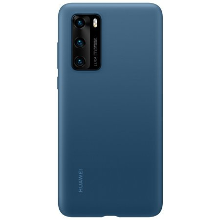 Official Huawei P40 Silicone Protective Case - Ink Blue