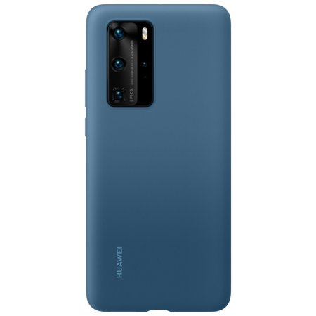 Official Huawei P40 Pro Silicone Protective Case - Ink Blue