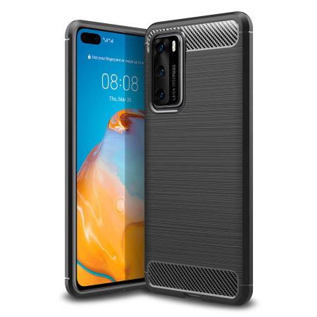 Olixar Carbon Fibre Huawei P40 Case - Black