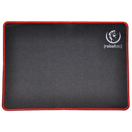 Rebeltec Ultra Glide Non-Slip Universal Office Mouse Mat - Black/Red