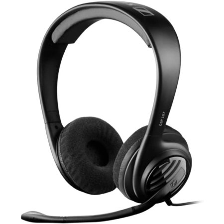 Sennheiser Super-Aural Headphones w/ Noise Cancelling Microphone