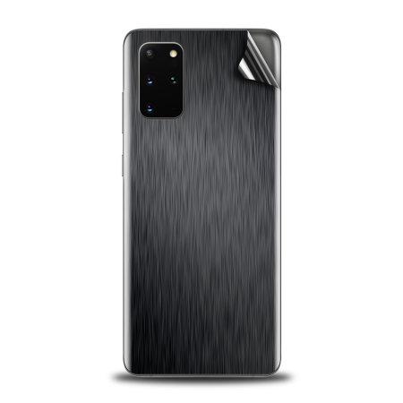 Olixar Samsung Galaxy S20 Plus Phone Skin - Brushed Metal Black