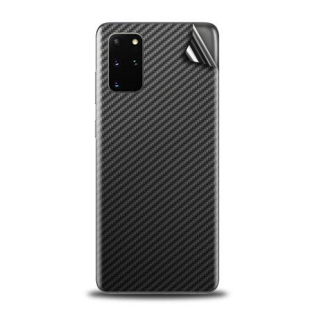 Olixar Samsung Galaxy S20 Plus Phone Skin - Black Carbon Fibre
