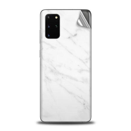 Olixar Samsung Galaxy S20 Plus Phone Skin - Marble White