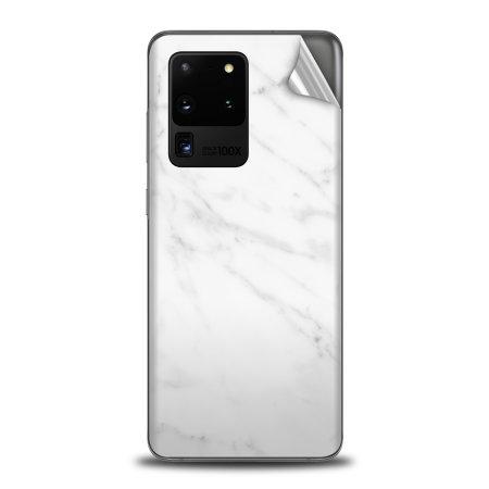 Olixar Samsung Galaxy S20 Ultra Phone Skin - Marble White