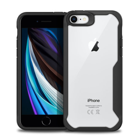 Olixar NovaShield iPhone SE 2020 Bumper Case - Black / Clear
