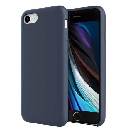 Olixar iPhone SE 2020 Soft Silicone Case - Midnight Blue