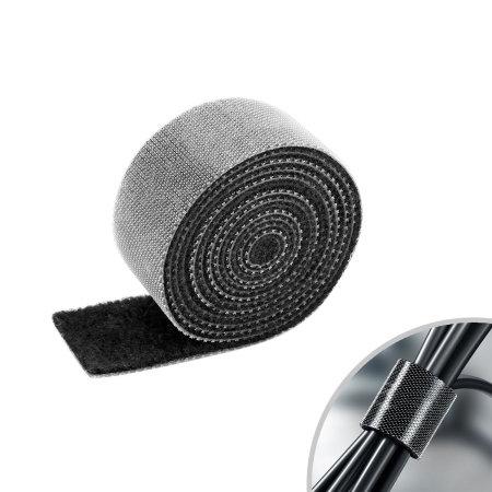 Olixar Velcro Cable Management Organiser Strips - Black - 20 Pack