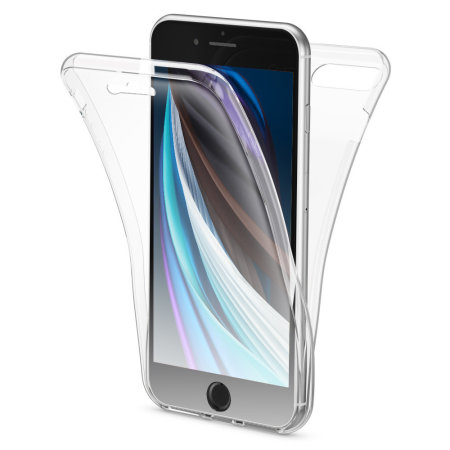 Olixar FlexiCover Complete Protection iPhone SE 2020 Gel Case - Clear