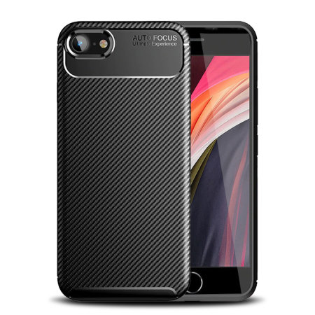 Olixar Carbon Fibre Apple iPhone SE 2020 Case - Black