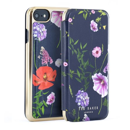 Ted Baker iPhone SE 2020 Outer Card Slot Folio Case - Hedgerow Purple