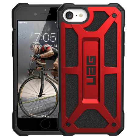 UAG Monarch Apple iPhone SE 2020 Tough Case - Crimson