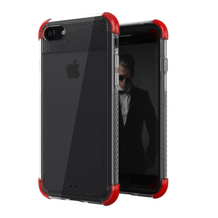 Ghostek Covert 2 iPhone SE 2020 Tough Case - Clear / Red