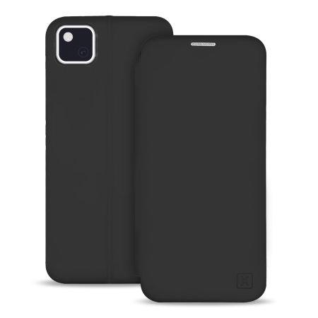 Olixar Google Pixel 4a Soft Silicone Flip Case - Black