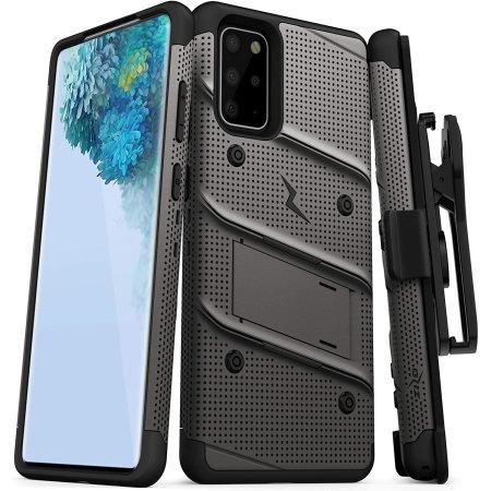 Zizo Bolt Samsung Galaxy S20 Plus Tough Case - Grey / Black