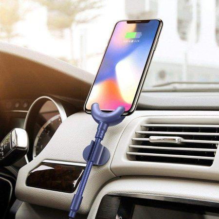 Baseus O-type Apple Lightning 2-in-1 Car Holder Cable Kit 0.8m - Blue