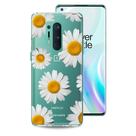 LoveCases OnePlus 8 Pro Daisy Clear Case - White