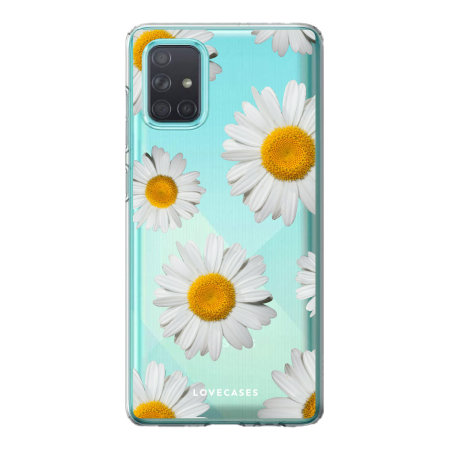 LoveCases Samsung Galaxy A71 Daisy Clear Case - White