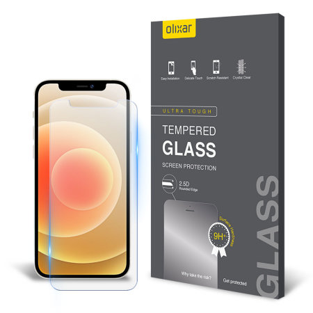 Olixar iPhone 12 mini Anti-Blue Light Tempered Glass Screen Protector