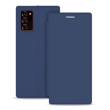 Olixar Soft Silicone Samsung Note 20 Ultra Wallet Case - Midnight Blue