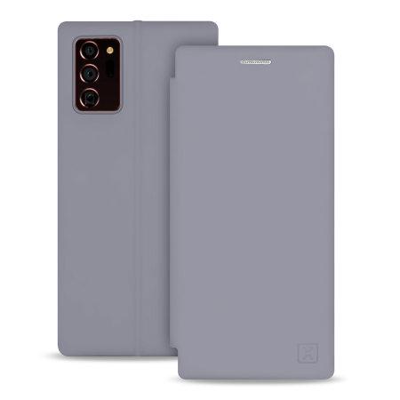Olixar Soft Silicone Samsung Galaxy Note 20 Ultra Wallet Case - Grey