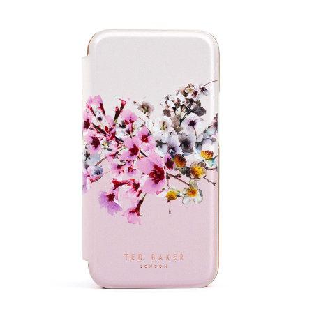 Ted Baker Jasmine iPhone 12 Anti-Shock Folio Case - Rose Gold