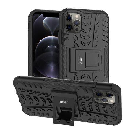 Olixar ArmourDillo iPhone 12 Pro Protective Case - Black