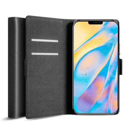 Olixar Genuine Leather iPhone 12 mini Wallet Case - Black